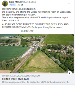 Foxton Travel Hub consultation