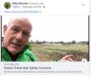 Foxton Travel Hub Safety Concerns